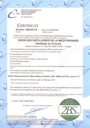 Certification 2BSvs